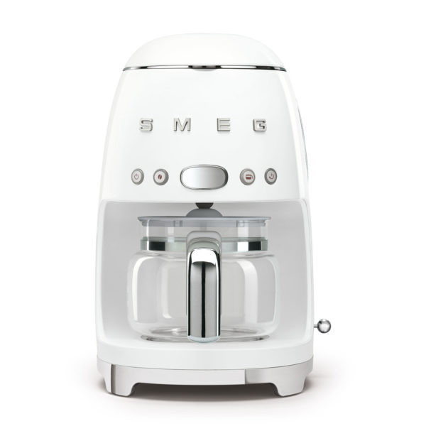 10 Cup Drip Coffee Maker 50'S Style White