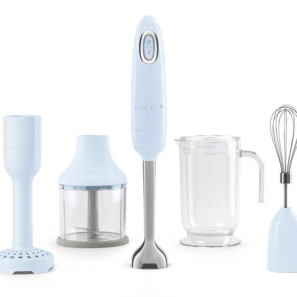 Hand Blender, Pastel Blue Incl Attachments