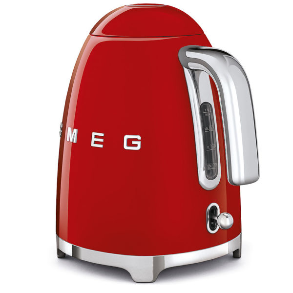 Electric Kettle 50'S Style, Red
