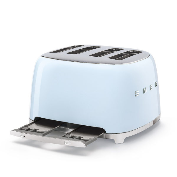 4X4  Slot Toaster 50's Style, Pastel Blue