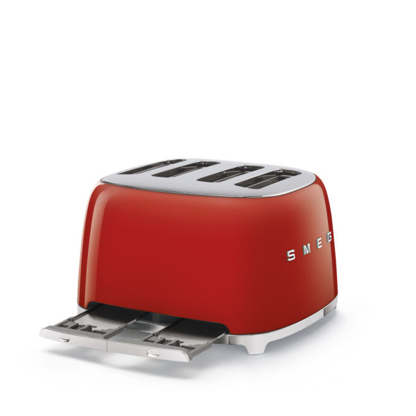4X4  Slot Toaster 50's Style, Red